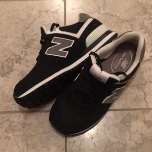 Black Suede New Balance Tennis Shoes